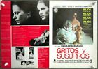 G7972 CRIES AND WHISPERS INGMAR BERGMAN LIV ULLMANN Original SPANISH PRESSBOOK