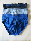 3 BRIEF_ 2(X)IST NO SHOW BRIEF,  3 different Blue color, SMALL, NWOT $32