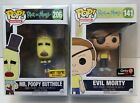 Funko Pop Rick And Morty Mr. Poopy Butthole Evil Morty Exclusive Lot Of 2