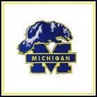 Michigan Wolverines Vintage Embroidered Iron On Patch NOS 27 x 27