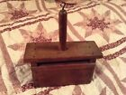 ANTIQUE BUTTER MOLD / STAMP PRIMITIVE COLLECT DECOR