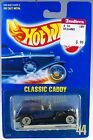 Hot Wheels No 44 35 Classic Caddy Blue w WWs MOC 1990 Speed Points Paper