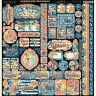 Graphic 45 SUN KISSED 12x12 Cardstock Stickers Tags Borders Motif Icons Planner