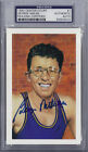 George Mikan Signed 1992 Center Court Ron Lewis Postcard - PSA DNA