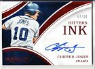 CHIPPER JONES 2016 IMMACULATE HITTERS INK AUTO # 10 !