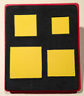 Sizzix Large Red Original Die Cutter SQUARE SET Geometric Cut Nested Squares
