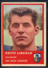 1963 Fleer #70 Keith Lincoln Chargers (EX) *671554