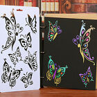 DIY Craft Butterfly Stencils Template Painting Scrapbooking Stamps Album New L7