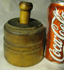 ANTIQUE PRIMITIVE COUNTRY FARM WOOD BIRD FERN PLANT BUTTER MOLD CULINARY TOOL US