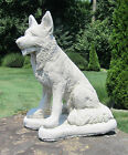 CONCRETE GERMAN SHEPHERD STATUE MEMORIAL PET GRAVE MARKER