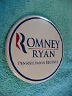 VH ROMNEY  RYAN PENNSYLVANIA BELIEVES PIN BADGE 47170