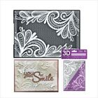 Ornate Lace embossing folder Crafters Companion embossing folders 3D 5x7