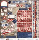 PAPER HOUSE BASEBALL SPORTS 12X12 CARDSTOCK SCRAPBOOK STICKERS