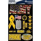 REMINISCE UNITED STATES ARMY MILITARY USA DIMENSIONAL 3D SCRAPBOOK STICKERS