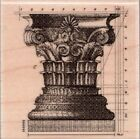 NEW STAMPABILITIES RUBBER STAMP Mounted ARCHITECTURAL COLUMN detail Free US Ship