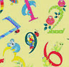 Henry Glass Alphabet Soup Yellow Numbers Print 6094 44 new bty fabric