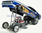 NEW 1971 Harry Schmidts FLAMED BLUE MAX NHRA Mustang Funny Car 1 18 AW1171