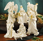 Lenox Holiday Nativity Holy Family Three Kings Angel 7 Piece Set New In Box