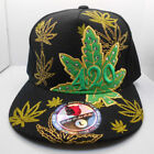 420 Pot Weed Flat Bbill Fitted Size L  Ballcap Hat New Nwt H33