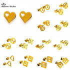 Fashion Stainless Steel Gold Color Women Girl Earrings Jewelry Set Free Shipping