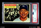 1956 Topps #135 Mickey Mantle Grey Back Yankees PSA 6 - EX MT