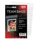 (100 ct Pack) Ultra Pro Team Bags w Resealable Strip Ship n Store Trading Cards