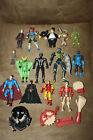 Mixed lot of 15 Action Figures Superheroes MARVEL  DC