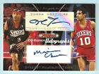ALLEN IVERSON MAURICE CHEEKS 2006 07 TOPPS CO-SIGNERS AUTOGRAPH AUTO SP 25