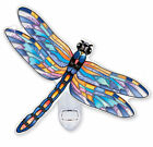 DRAGONFLY SPOTTED PENNANT NIGHT LIGHT AMIA STAINED GLASS 6 X 5 42347