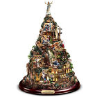 Thomas Kinkade Lighted Christmas Sculpture Nativity Mountain of Hope Holiday