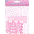 BABY SHOWER Girl CANDY BAR WRAPPER KIT Party Supplies Favors Decorations Pink