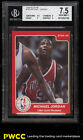 1984-85 Star Basketball Michael Jordan ROOKIE RC #195 BGS 7.5 NRMT+ (PWCC)