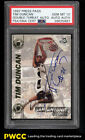 1997 Press Pass Double Threat Tim Duncan ROOKIE RC, PSA DNA AUTO PSA 10 (PWCC)