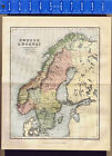 Norway - 1893 Antique Color Map Print - CLEARANCE