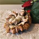 Baby Jesus in Crib with Straw 4 inch Figurine Statue Nativity Set Removable