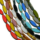 Czech Glass Picasso Table Cuts Oval Glass Beads16x6mm or 18x7mm U Pick