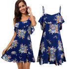 USA Summer Women Flower Short Evening Party Cocktail Casual Beach Dress Sundress