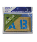 2 POSTER STENCIL SET Letters Numbers Symbols STENCIL IT Oil Board Made in USA