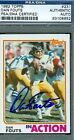 DAN FOUTS AUTOGRAPH 1982 TOPPS PSA DNA SIGNED AUTHENTIC