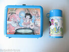 LITTLE WIZARDS Lunch Box Lunchbox +Thermos Blue 1988 Marvel Aladdin