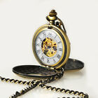 Bronze Double Hunter White Dial For Mens Mechanical Manual Winding Pocket Watch