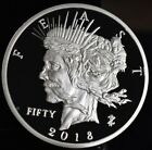 2018 Zombucks Feast Dollar 1 oz Sillver Proof - Currency Of The Apocalypse