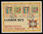BR IINDIAN OCEAN TERR 1973 EASTER Mini Sheet SGms51 USED ALDABRA Is PMK Re:QK403
