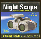 Night Scope Binoculars with pop up light 4 x 30mm 2AAA Batteries required B 0 8