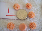 LOTL NEW SCRAPBOOK CARDMAKER JEWELRY MAKER FINDing 6 ORANGE FLOWER RESIn made