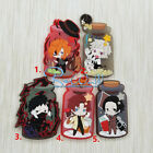 New Japan Anime Bungo Stray Dogs Fridge Magnet Rubber Keychain Keyring Pendant