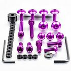 Pro-Bolt Aluminium Fairing Bolt Kit - Purple FHO063P Honda CBF600S 08-09