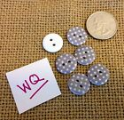 LOTWQ CARDMAKER SEWING NOTIONS SUPPLY 6 NEW POLKA DOT DESIGN BUTTONS Crafters