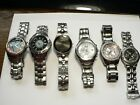 Fossil watches mens Lot of 6 ~ Arkitekt Speedway Blue Big Tic Flames Look!!!