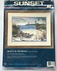 Beauty of the Beach Counted Cross Stitch kit by Sunset 14 x 10 1997 lot A1B